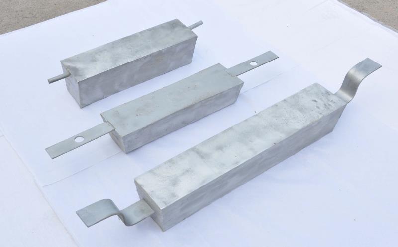 铝合金牺牲阳极    耐高温铝合金牺牲阳极