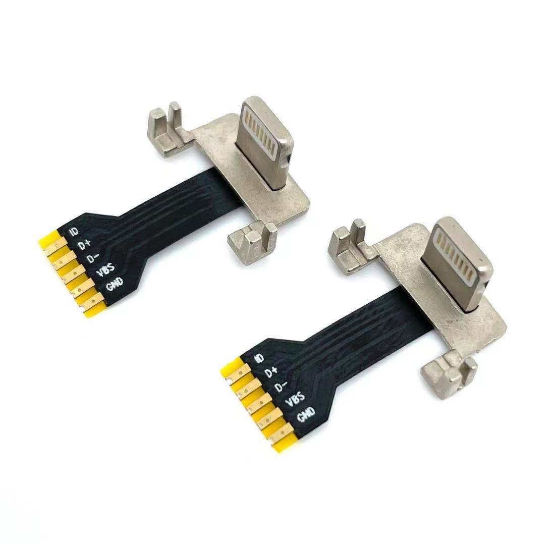 苹果背夹无线充公头 5p焊盘带FPC排线   带固定支架脚背