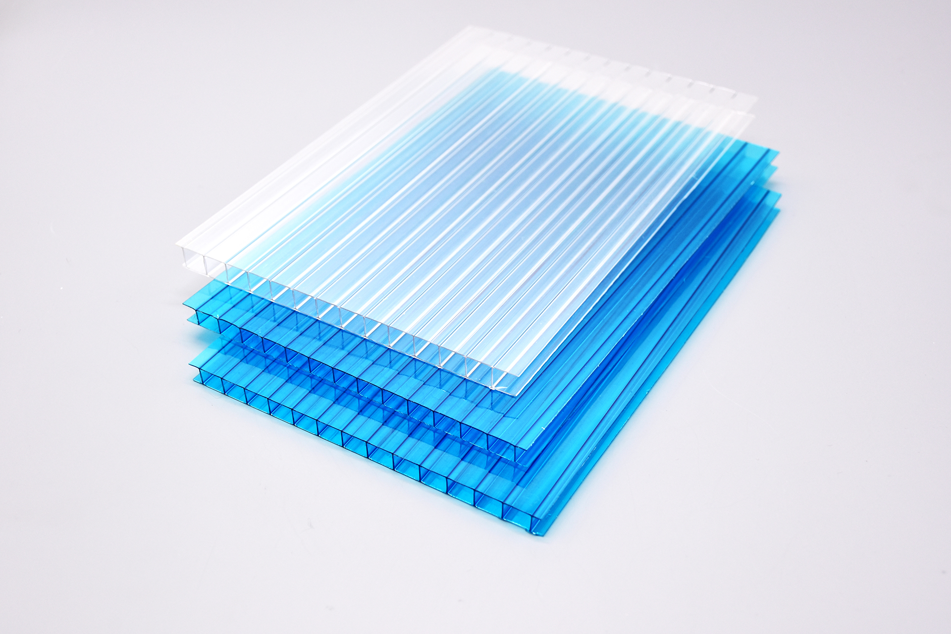 .定制批发双层隔热中空阳光板防紫外线温室棚聚碳酸酯板阳光板