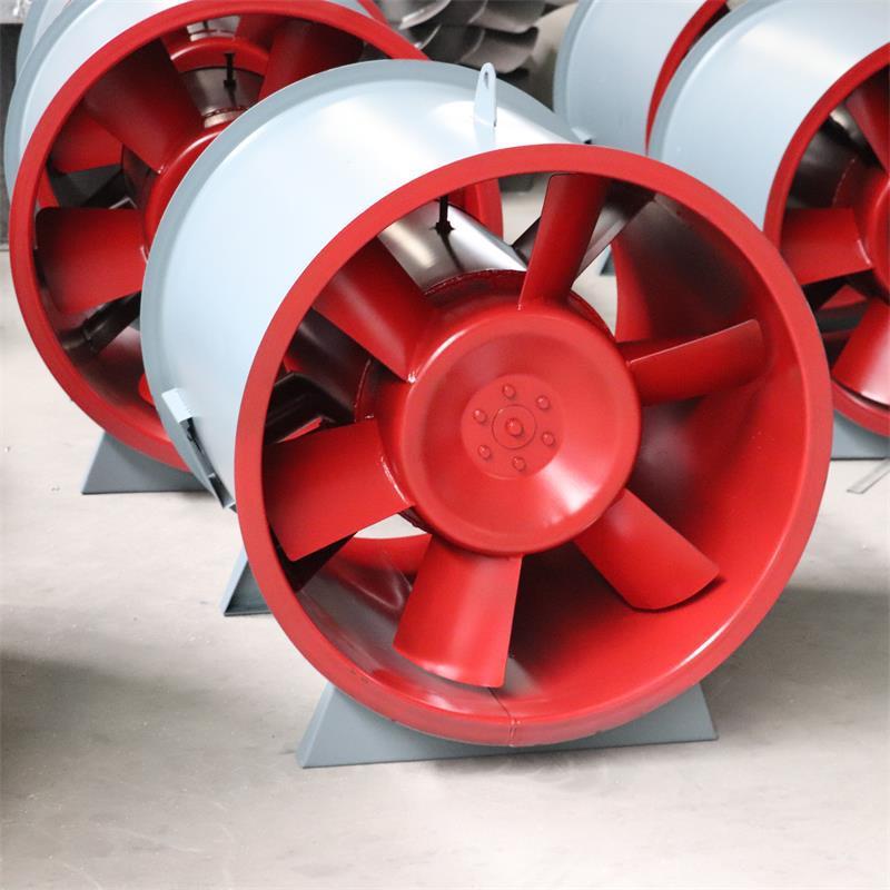 轴流式消防高温排烟风机 地库厂房排烟通风机设备 斜流正压送风
