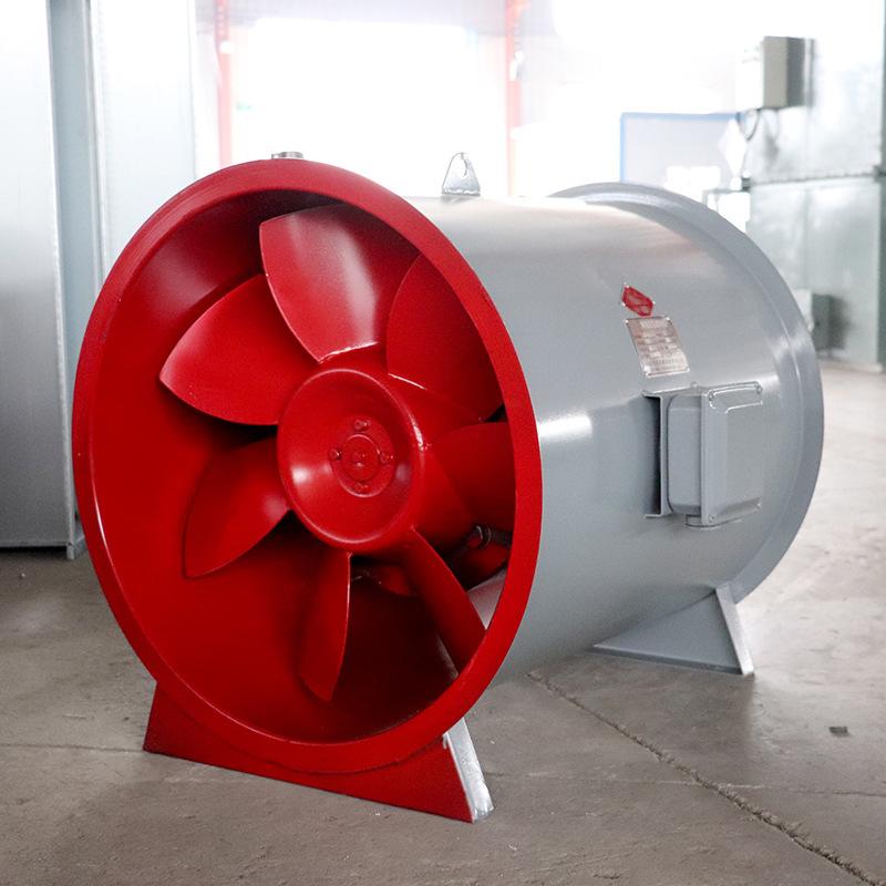 3C认证轴流式消防排烟风机工业厂房通风设备低噪声防爆式排烟风