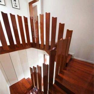 实木楼梯铁艺扶手 复式实木楼梯 旋转式实木楼梯