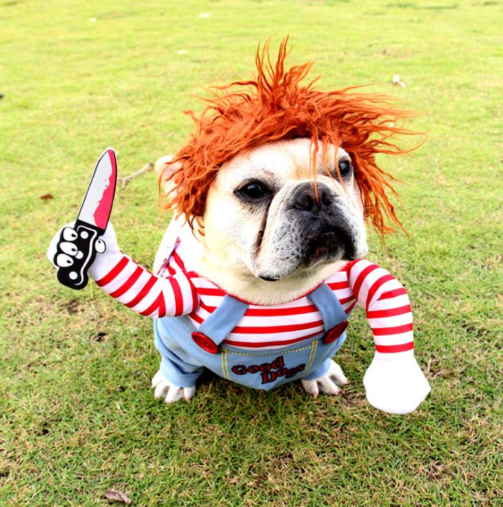 宠物立体衣服致命娃娃狗狗变身装万圣节宠物服装搞笑